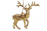 Елочное украшение золотой олень