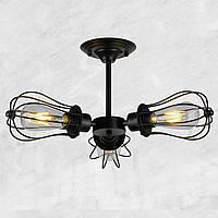 Светильник потолочный [ Loft an Outdoor Fan - II ] вентилятор ( 3 Lamp Edisons )