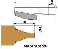 Фреза для обработки дверной филенки, с мех. креплением ножей HSS D200-d32-B30-z4