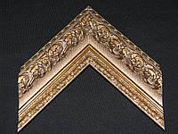 Пластиковый багет с лепниной, состаренное золото. Оформление вышивок, картин, икон