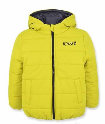 Детская зимняя куртка на мальчика, оливковая р.110, фото 2