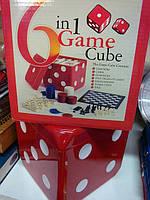 Игра 6 в 1 Покер-Карты-Домино-Шахматы-Нарды