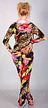 Леопардовый спортивный костюм из бархата для модных девушек, фото 4