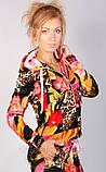 Леопардовый спортивный костюм из бархата для модных девушек, фото 5