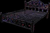 """Металлическая кровать """"Жозефина"""" на деревянных ножках"""