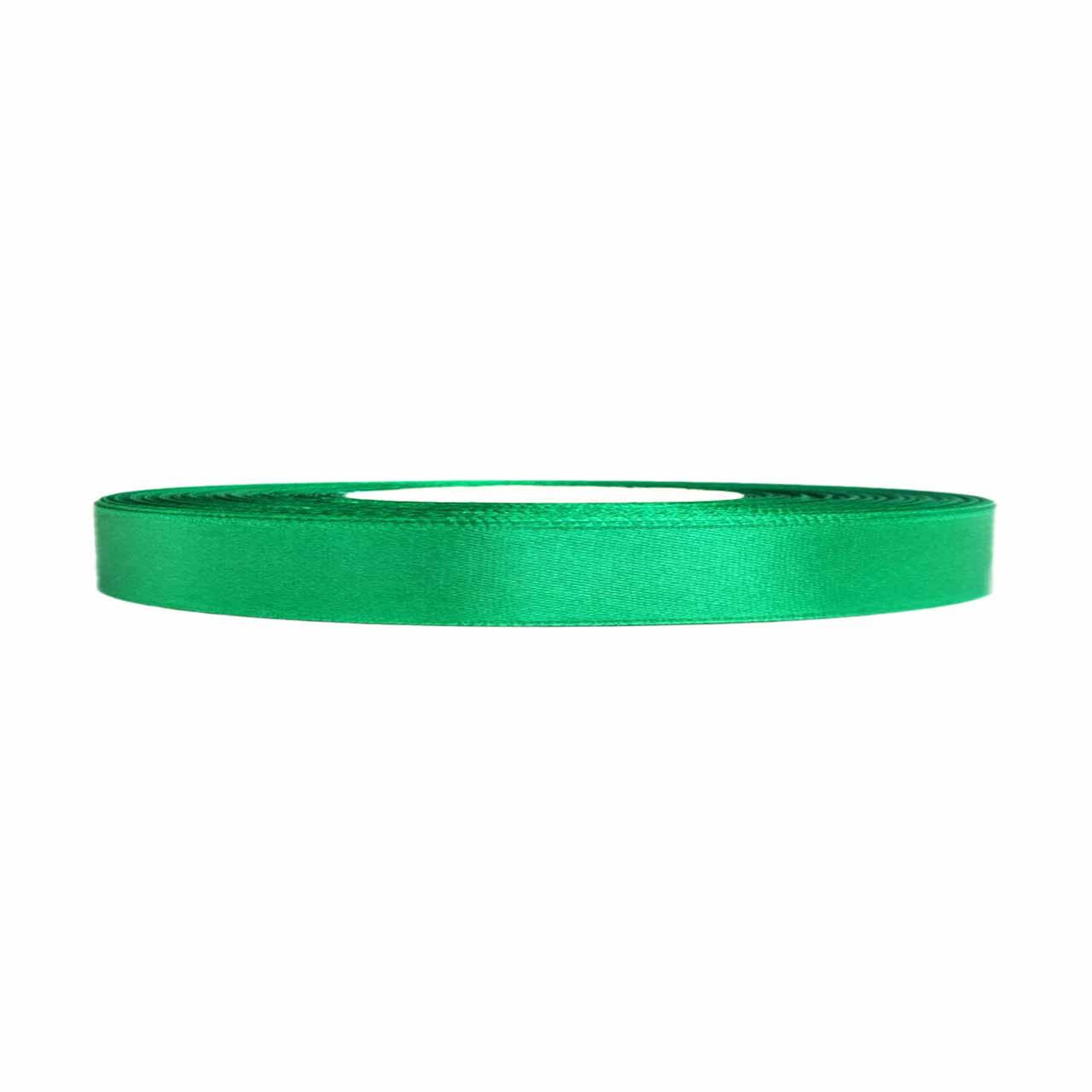 Атласная лента темно-зеленая 0,6 см х 36 ярдов