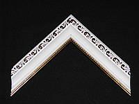 Багет пластиковый тонкий, белый лаковый Рама для фотографии.
