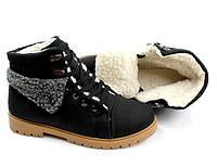 Короткие стильные зимние ботинки 36-38