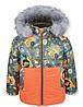 Детская зимняя куртка на мальчика ТИТАН оранж. р.104