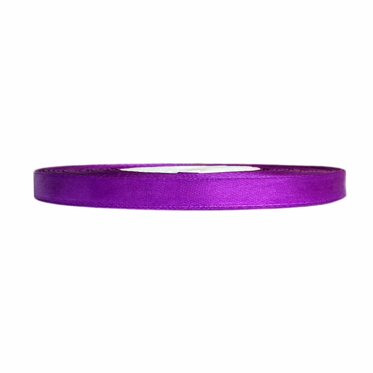 Атласная лента фиолетовая 0,6 см х 36 ярдов
