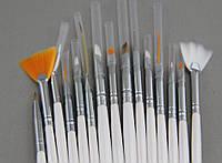 Набор кистей для росписи и дизайна ногтей 15 шт.