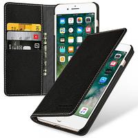 """Кожаный чехол-книжка TETDED для Apple iPhone 7 plus (5.5"""") (Черный)"""