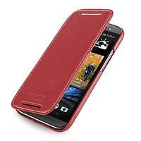 Кожаный чехол-книжка TETDED для HTC New One 2 / M8 (Красный)