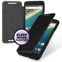 Кожаный чехол-книжка TETDED для LG Google Nexus 5x (Черный)