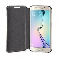 Кожаный чехол-книжка TETDED для Samsung G925F Galaxy S6 Edge (Черный)