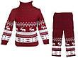 """Детский теплый шерстяной свитер """"Олени"""", для мальчика, цвет бордо,, фото 5"""