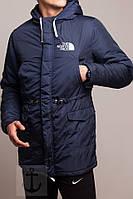 Мужская зимняя парка The North Face темно-синяя
