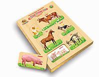 Рамки-вкладыши Монтессори с подслоем с ручками Домашние животные, Вундеркинд