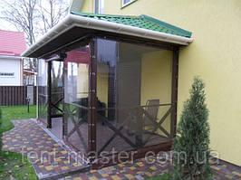 Прозрачные ПВХ шторы для загородного дома