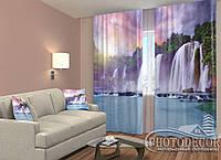 """ФотоШторы """"Большой водопад"""" 2,5м*2,0м (2 полотна по 1,0м), тесьма"""
