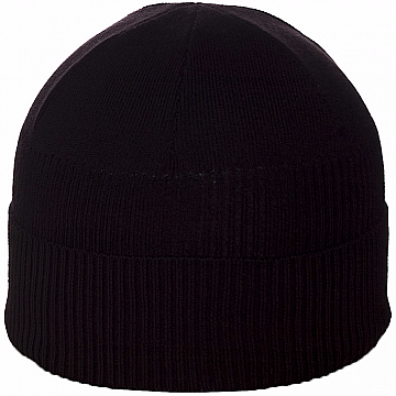 Мужская шапка с подворотом цвет черный