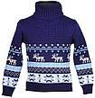 """Детский теплый, шерстяной свитер """"Олени"""" для девочек, оптом, фото 4"""