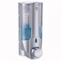 Дозатор для жидкого мыла 380мл пластиковый 8*8.5*19см (серебристый)