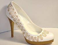 Модные стильные туфли GLORIA white, р.35-40, фото 1