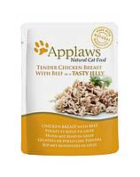 APPLAWS курица с говядиной в желе 70 g