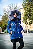 Парка 3 в 1  с натуральным окрасом меха Blue frost L16, фото 3