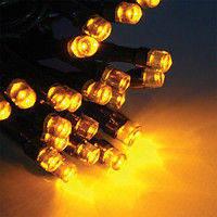 Уличная светодиодная гирлянда нить 5м желтая на деревья, фото 1