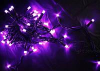 Уличная светодиодная гирлянда нить 5м фиолетовый на дерево