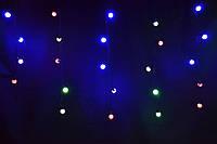 Светодиодная шторка шариками 3*1,8м led микс разноцветная гирлянда штора из шариков. , фото 1