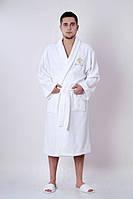 Халат мужской махровый Marca Marco Milano белый размер XXL, L