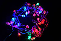 Гирлянда 1 светодиодная — led шарики-40