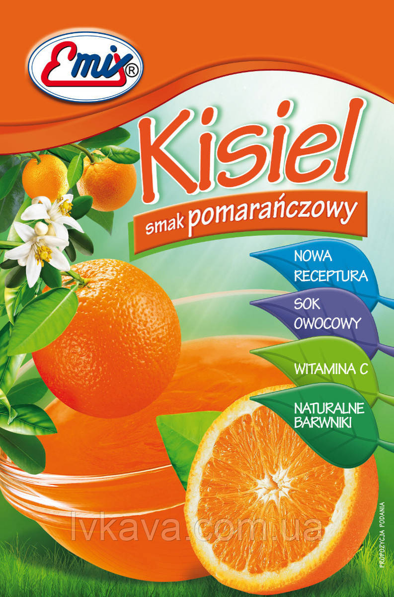 Порошок для приготовления киселя Emix со вкусом апельсина, 40 гр