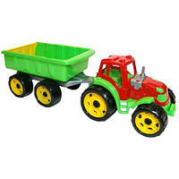 Игрушка Трактор с прицепом ТехноК, 54×17.5×16см, фото 1