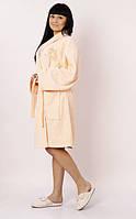 Халат женский махровый Marca Marco Milano персиковый размер XXL, L