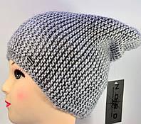 "Женская шапка ""Аден"" серый. Вязанные женские шапки."
