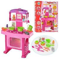 Детская игровая кухня розовая музыкальная с духовкой