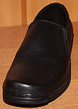 Мужские туфли из кожи черные от производителя модель АМТ100., фото 2
