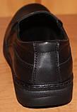 Мужские туфли из кожи черные от производителя модель АМТ100., фото 5