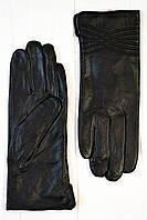 Женские кожаные перчатки Шербет черный, фото 1