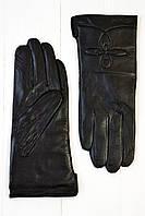 Женские кожаные перчатки Канеле черный