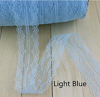 Кружево Нежность 4 см, цвет голубой