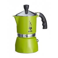 Кофеварка гейзерная Bialetti  Fiammetta зеленый, на 3 чашки