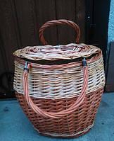 Потребительская корзина базарная с крышкой, фото 1