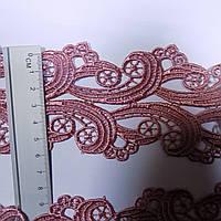 Мереживо макраме рожеве 6 см