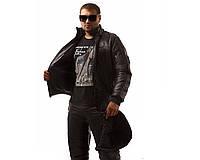 Мужской спорт костюм на синтепоне черный