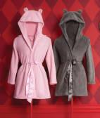 Домашній одяг: жіночий халат (сірий)